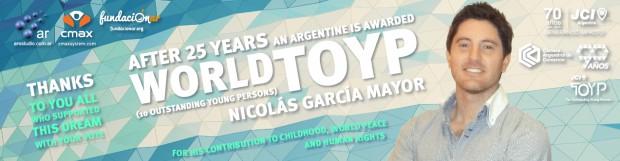 NICOLÁS GARCÍA MAYOR WORLD TOYP HONOREE